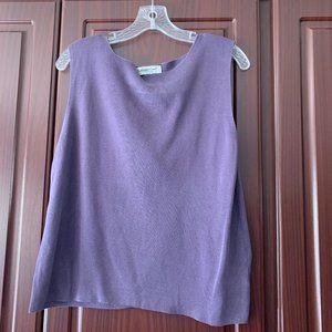 Original Coldwater Creek Silk Purple Vest XL